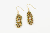 Deco Collection: Micromaille Earrings - Golden Green