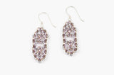 Deco Collection: Micromaille Earrings - Warm Pink Silver