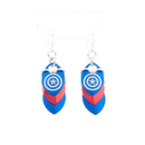 Superhero Inspired - Captain America Fandom Scale Earrings