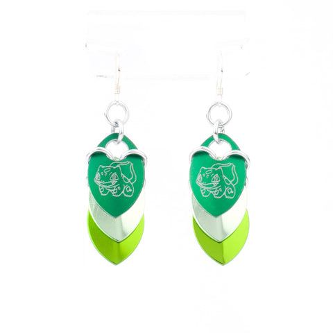 Bulbasaur Inspired - Fandom Scale Earrings