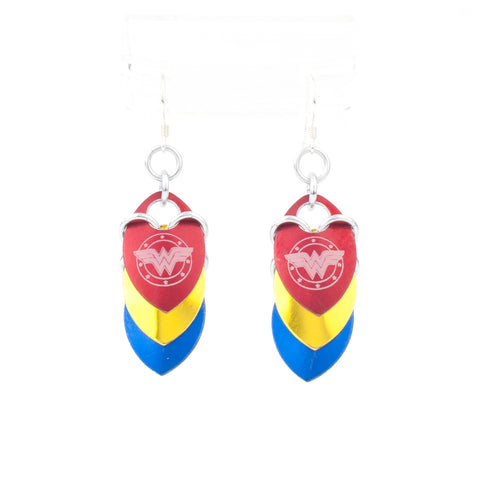 Superhero Inspired - Wonder Woman Fandom Scale Earrings