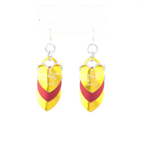 Pikachu Inspired - Fandom Scale Earrings