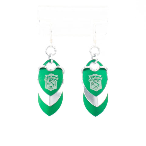 Slytherin Inspired - Fandom Scale Earrings