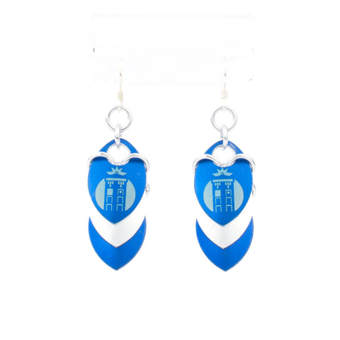 TARDIS Inspired - Fandom Scale Earrings