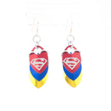 Superhero Inspired - Superman/Supergirl Fandom Scale Earrings