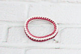 Half Persian Stretchy Chain Maille Bracelet - Red and White - CANADA DAY