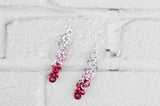 Shaggy Loops Earrings - Red Ombré