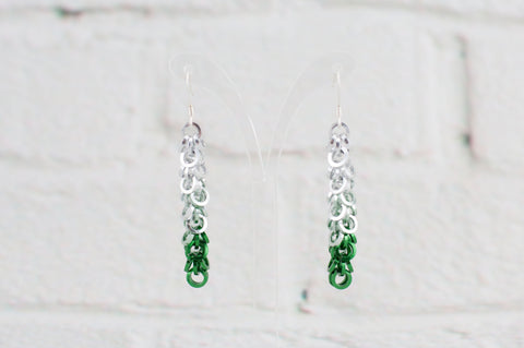 Shaggy Loops Earrings - Green Ombré