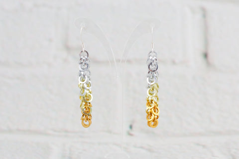 Shaggy Loops Earrings - Golden Ombré