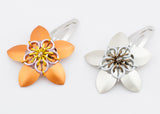 Flower Scale Maille Hair Clip Barette - Various Colours - LAST CHANCE!