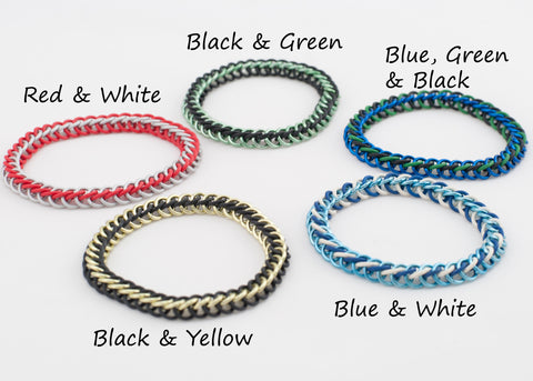 Stretchy Simple Bracelet - Half Persian Slim Weave