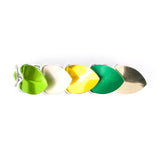 Scale Hair Barrette - Green and Yellow