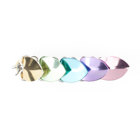 Scale Hair Barrette - Pastel Rainbow