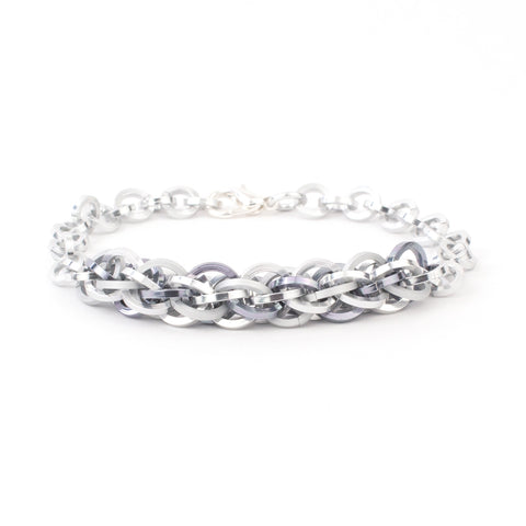 Jens Pind Linkage Centrepiece Bracelet in Square Wire - Silver
