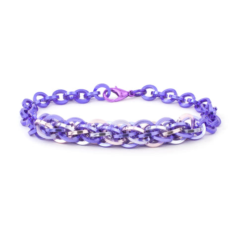 Jens Pind Linkage Centrepiece Bracelet in Square Wire - Purple