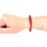 Jens Pind Linkage Centrepiece Bracelet in Square Wire - Red