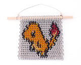 Miniature Chain Maille Wall Art - Charmander Inspired Pokémon Inlay