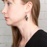 Shaggy Scales Collection: Earrings - Black, Gold and Bronze