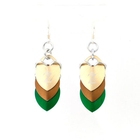 Zelda Inspired - Z Fandom Scale Earrings