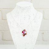 Shaggy Scales Collection: Necklace - Red, Pink and Silver
