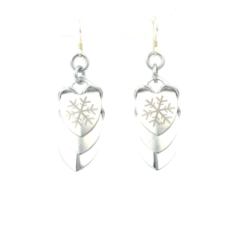 Winter Snowflake - Scale Earrings