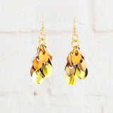 Shaggy Scales Collection: Earrings - Golden