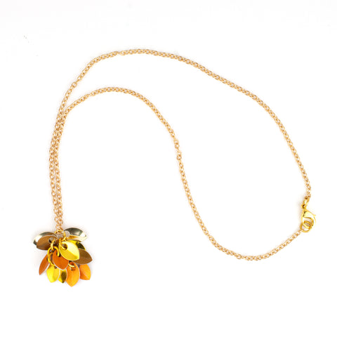 Shaggy Scales Collection: Necklace - Golden