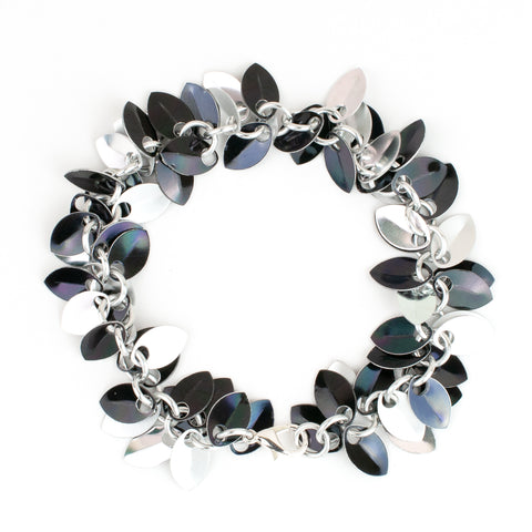 Shaggy Scales Collection: Bracelet - Silver and Black