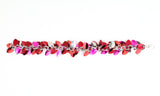 Shaggy Scales Collection: Bracelet - Red, Pink and Silver