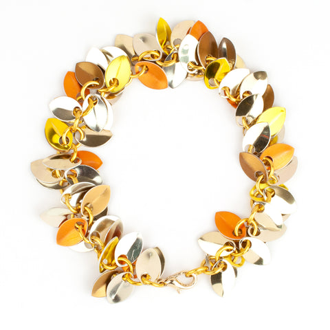 Shaggy Scales Collection: Bracelet - Golden