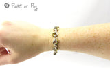 Mobius Chain Maille Bracelet - Sterling Silver and Golden Niobium