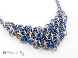 Making Waves Collection: Vipera Berus Chain Maille Necklace - Stormy Seas