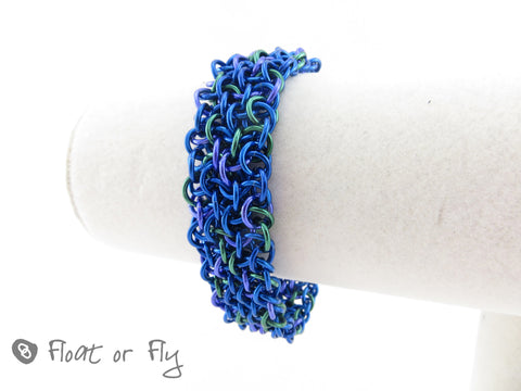 Making Waves Collection: Vipera Berus Chain Maille Bracelet - Into the Deep