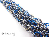 Making Waves Collection: Vipera Berus Chain Maille Bracelet - Stormy Seas