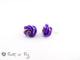 Mobius Stud Earrings - Purple
