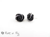 Mobius Stud Earrings - Black