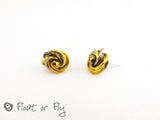 Mobius Stud Earrings - Golden
