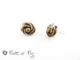 Mobius Stud Earrings - Light Bronze