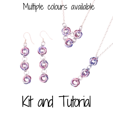 Infinity Loops Set (Mobius Weave) - DIY Kit and Tutorial