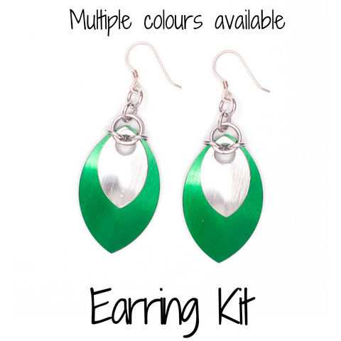 Double Scale Earrings - DIY Kit