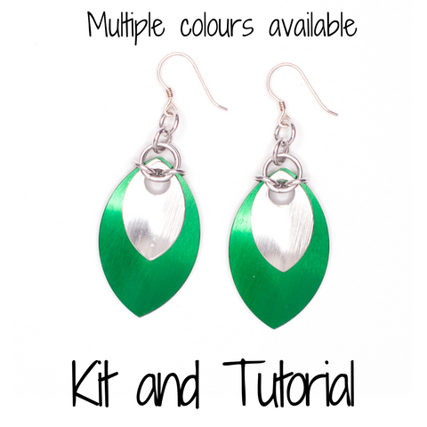 Double Scale Earrings - DIY Kit and Tutorial