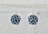 Swarovski Crystal Captured Drop Earrings - Black Crystal