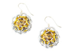 Swarovski Crystal Captured Drop Earrings - Golden Yellow Crystal
