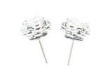 Swarovski Crystal Captured Stud Earrings - Clear White Crystal