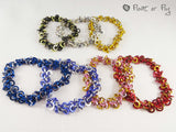 Stretchy Shaggy Chain Maille Bracelet - Various Colours