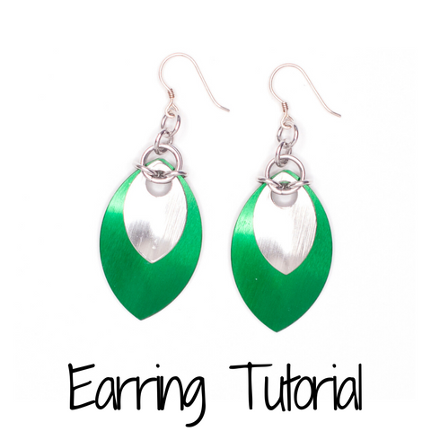 Double Scale Earrings - DIY Tutorial