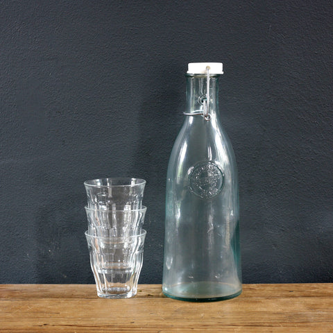 Table glass water bottle with stopper