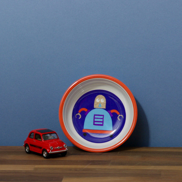 Childs Round Bowl - Robot