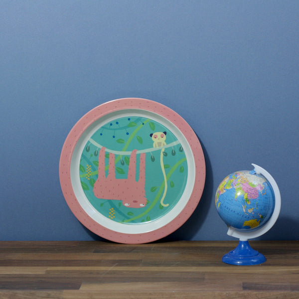Childs Dining Plate - Jungle Sloth