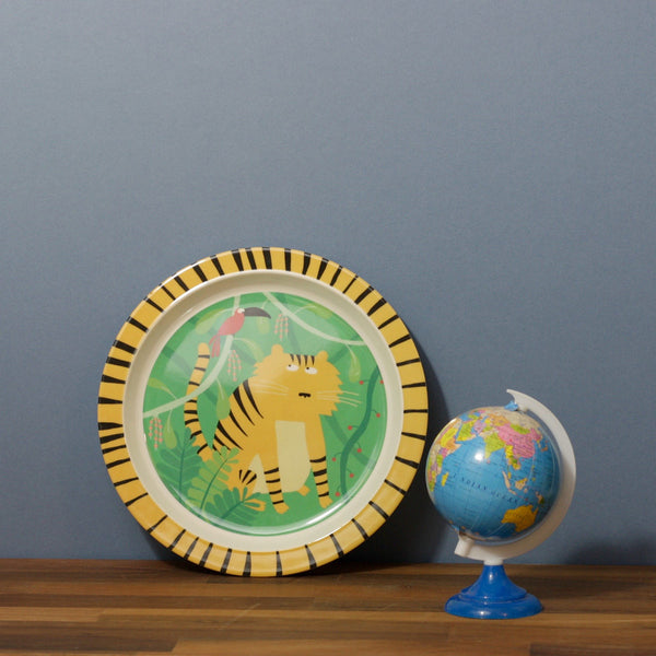 Childs Dining Plate - Jungle Tiger